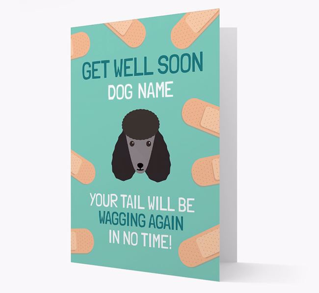 Personalised 'Get well soon Your Dog' Card with Poodle Icon