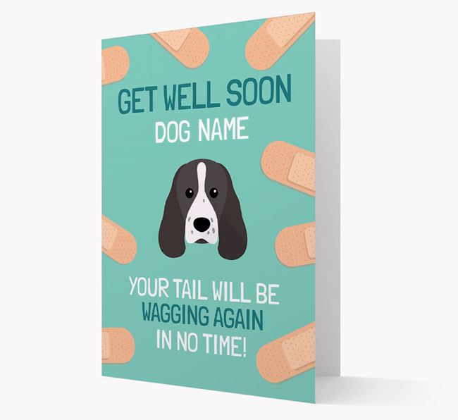 Personalized 'Get well soon Your Dog' Card with Sprocker Icon