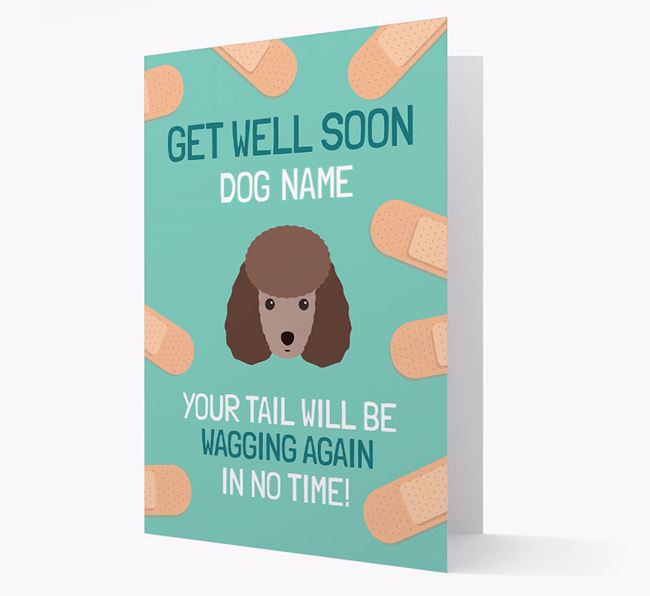 Personalized 'Get well soon Your Dog' Card with Toy Poodle Icon