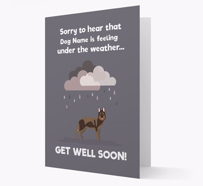 'Sorry to hear that Your Dog is feeling under the weather' Card