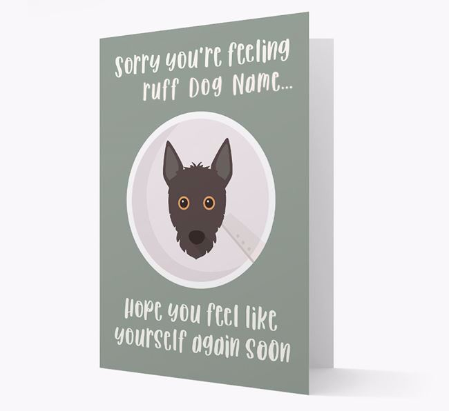 Personalized 'Sorry you're feeling ruff Your Dog' Card