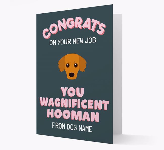 Personalised 'Congrats on your new job, you wagnificent human!' Card