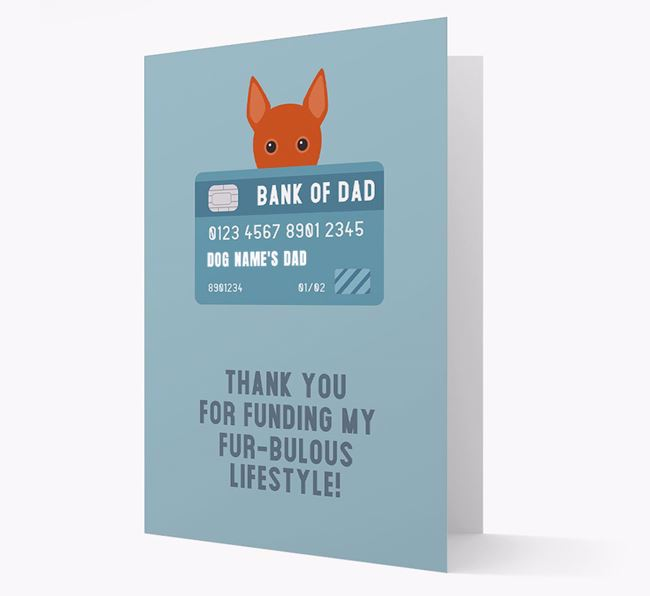 'Bank of Dad' - Personalised Basenji Card