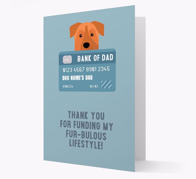 'Bank of Dad' - Personalised Chinook Card