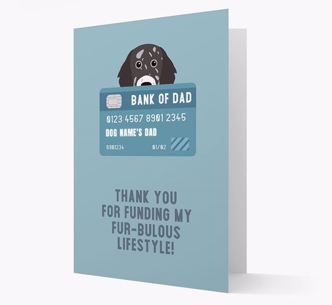 'Bank of Dad' - Personalised English Setter Card