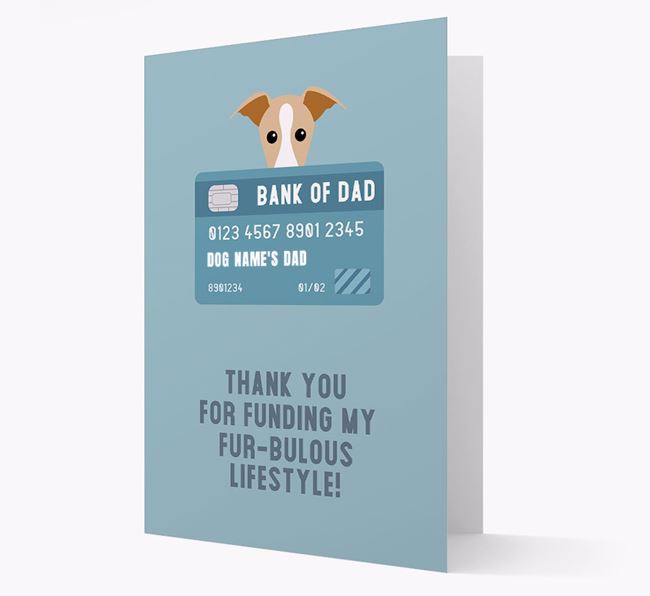 'Bank of Dad' - Personalised Dog Card