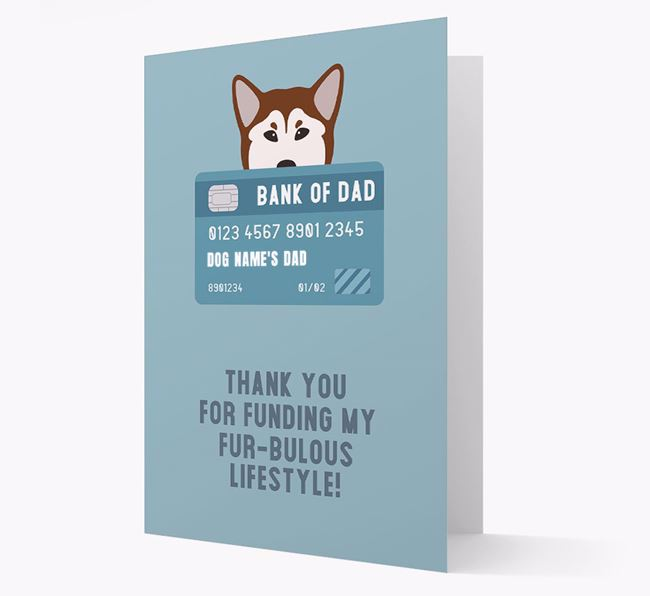 'Bank of Dad' - Personalised Mixed Breed Card