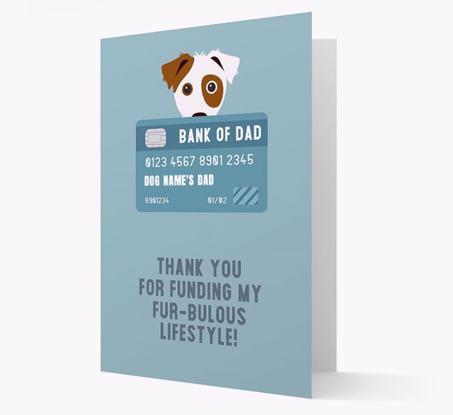 'Bank of Dad' - Personalised Parson Russell Terrier Card