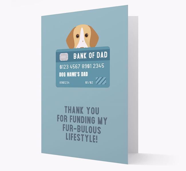 'Bank of Dad' - Personalised Pointer Card