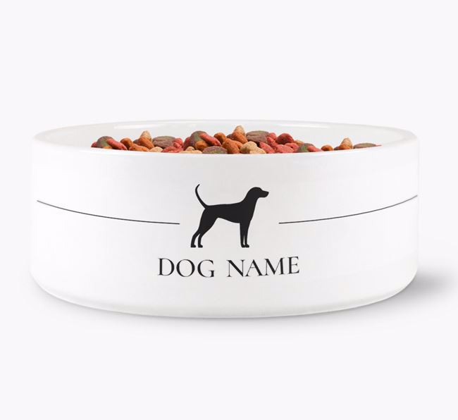 Personalised English Coonhound Silhouette