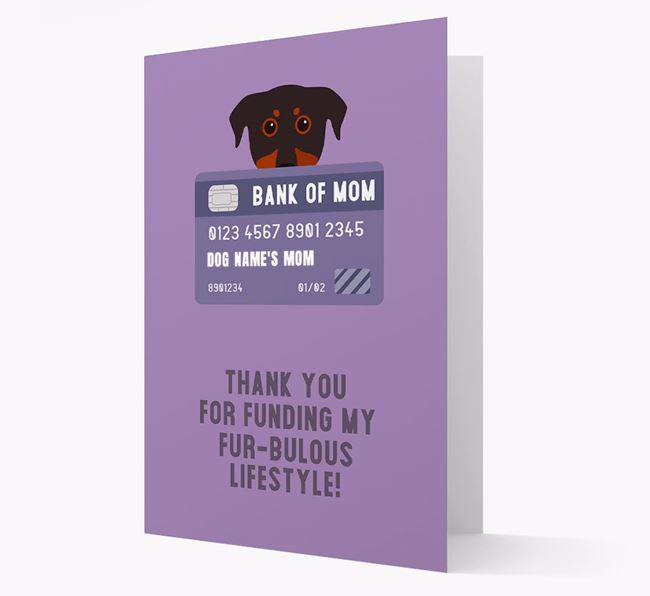 'Bank of Mom' - Personalised Beauceron Card