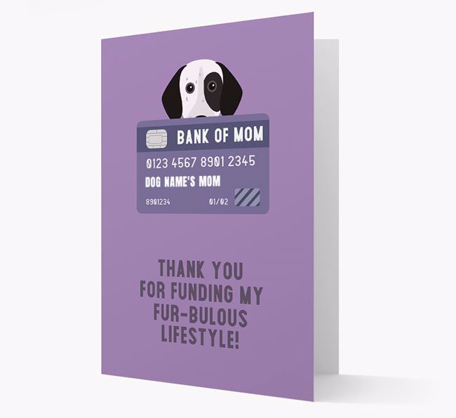 'Bank of Mom' - Personalised German Shorthaired Pointer Card