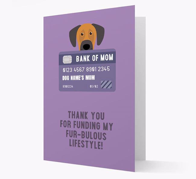 'Bank of Mom' - Personalised Dog Card