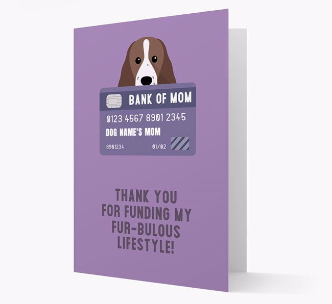 'Bank of Mom' - Personalised Mixed Breed Card