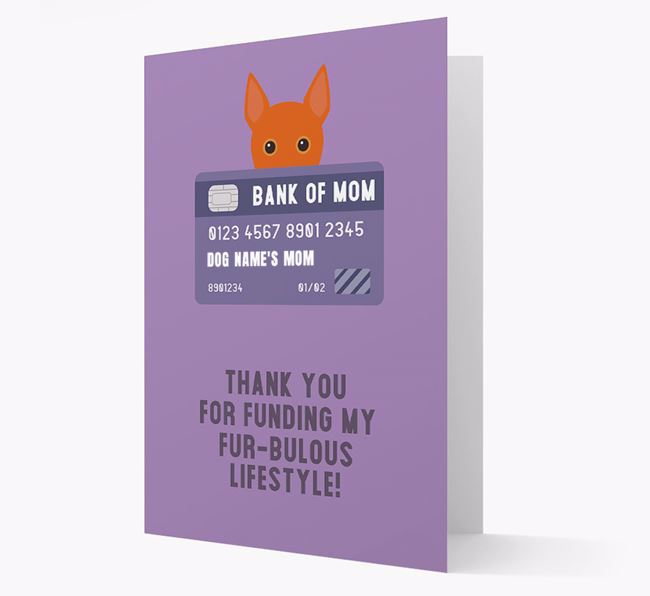 'Bank of Mom' - Personalised Portuguese Podengo Card