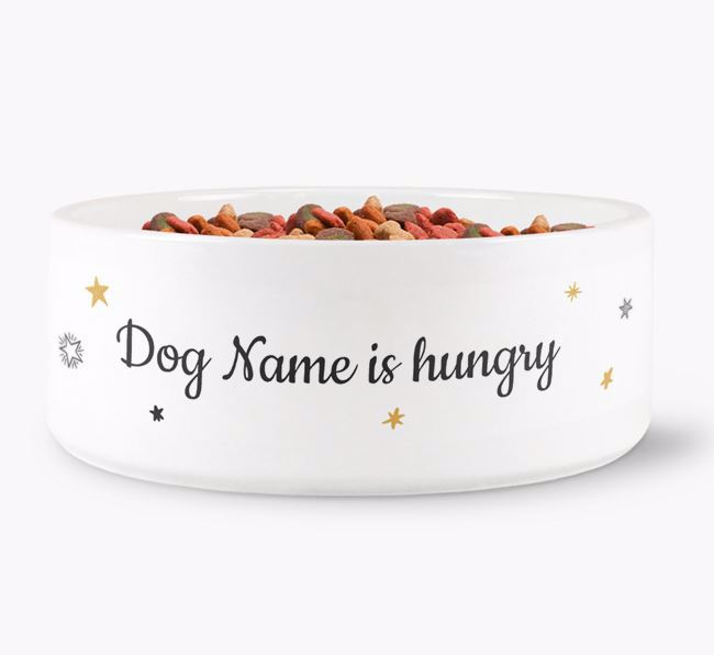 'Your Dog is hungry/full' Ceramic Bowl