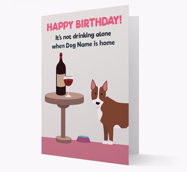 Personalized 'Birthday Drinks' Card with Bull Terrier Icon