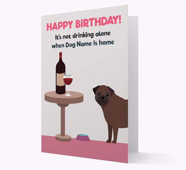 Personalized 'Birthday Drinks' Card with Frug Icon
