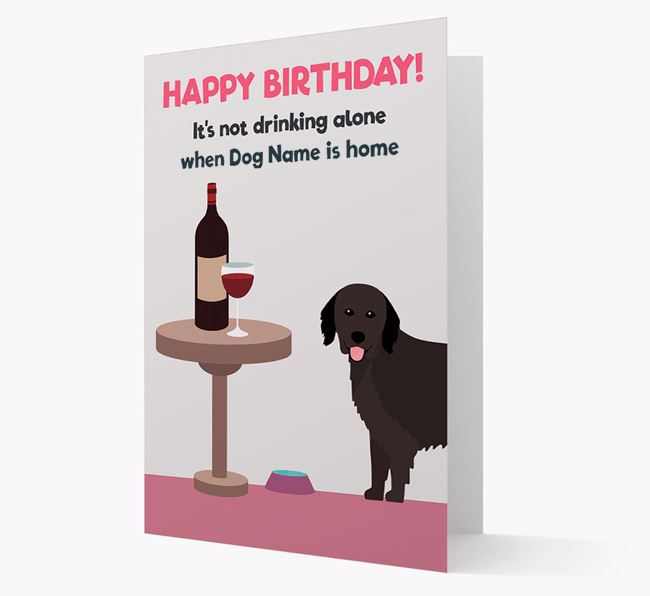Personalized 'Birthday Drinks' Card with Hovawart Icon
