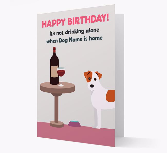 Personalized 'Birthday Drinks' Card with Jack Russell Terrier Icon