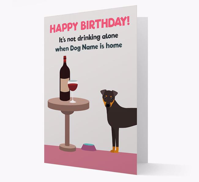 Personalized 'Birthday Drinks' Card with Dog Icon
