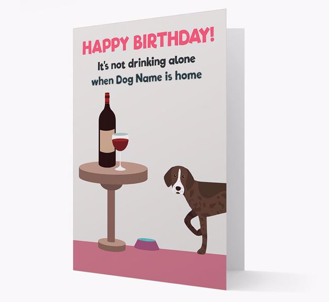 Personalized 'Birthday Drinks' Card with Pointer Icon