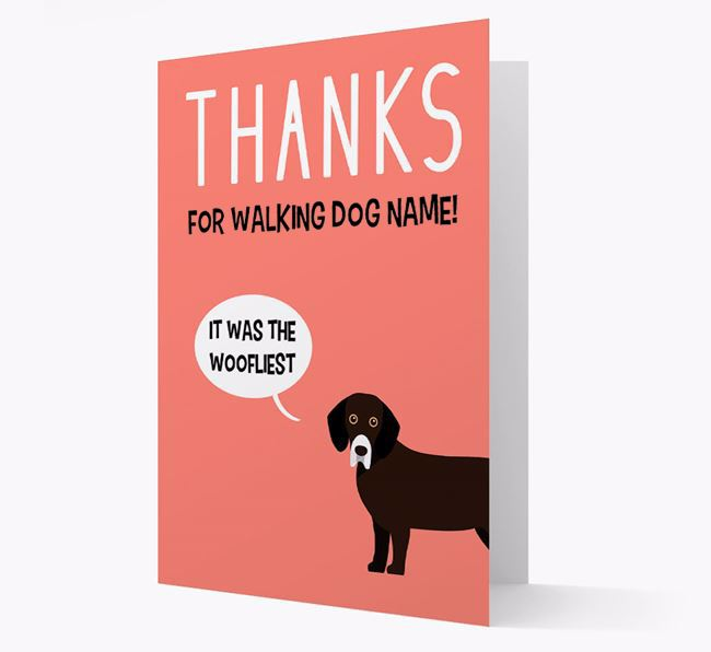 'Thanks for the Woofliest Walks' Card with Bassador Icon