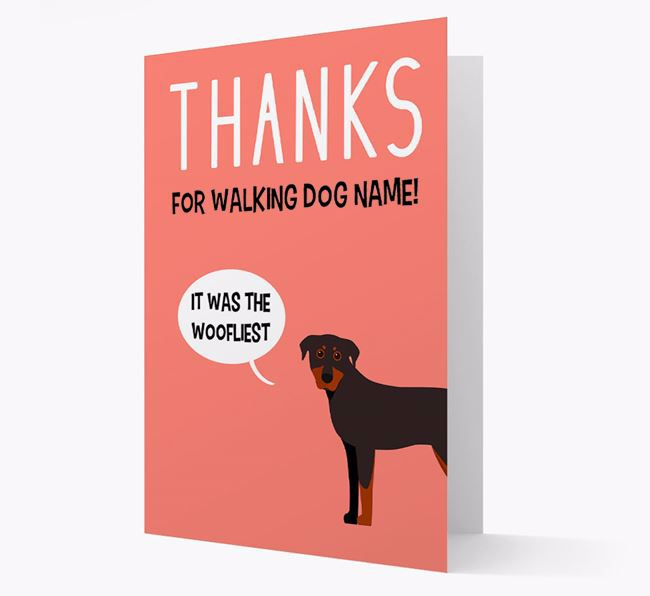 'Thanks for the Woofliest Walks' Card with Beauceron Icon