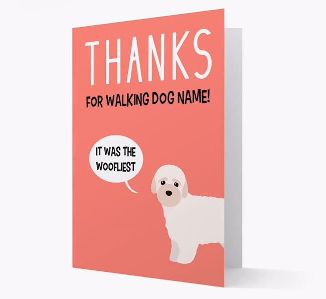 'Thanks for the Woofliest Walks' Card with Bich-poo Icon