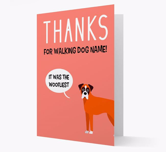 'Thanks for the Woofliest Walks' Card with Dog Icon