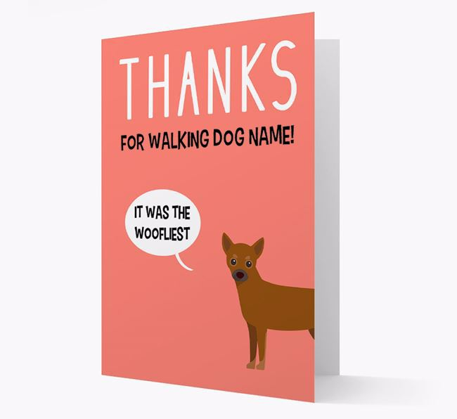 'Thanks for the Woofliest Walks' Card with Chihuahua Icon