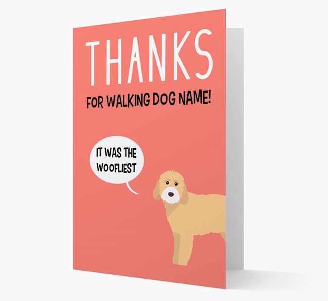 'Thanks for the Woofliest Walks' Card with Cockapoo Icon