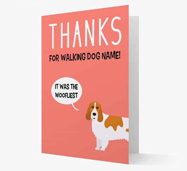 'Thanks for the Woofliest Walks' Card with Cocker Spaniel Icon