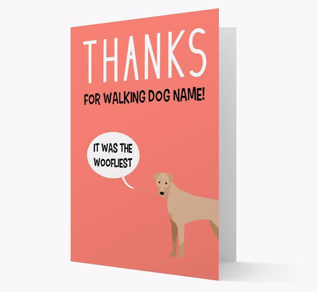 'Thanks for the Woofliest Walks' Card with Dobermann Icon