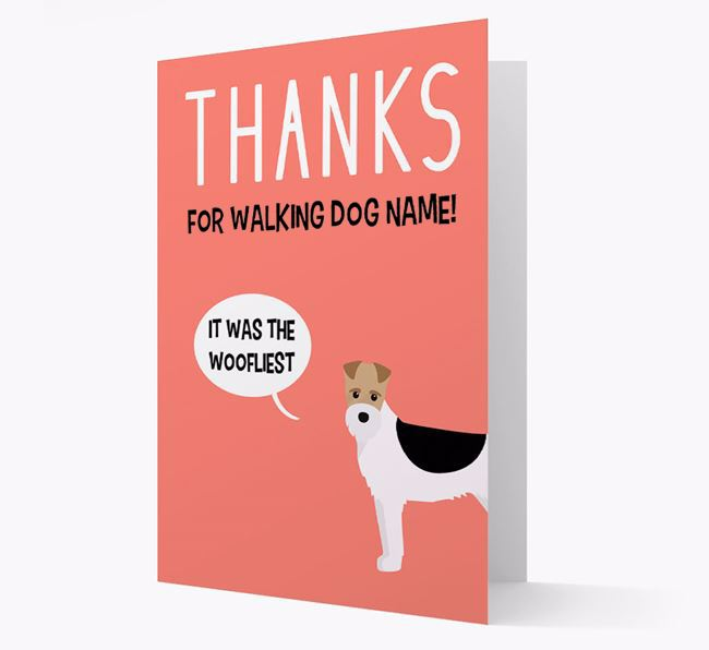 'Thanks for the Woofliest Walks' Card with Fox Terrier Icon