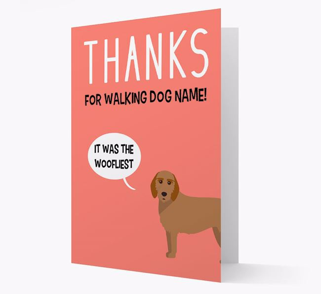 'Thanks for the Woofliest Walks' Card with Griffon Fauve De Bretagne Icon