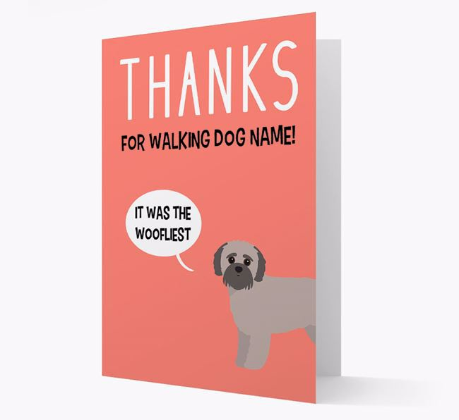 'Thanks for the Woofliest Walks' Card with Jack-A-Poo Icon
