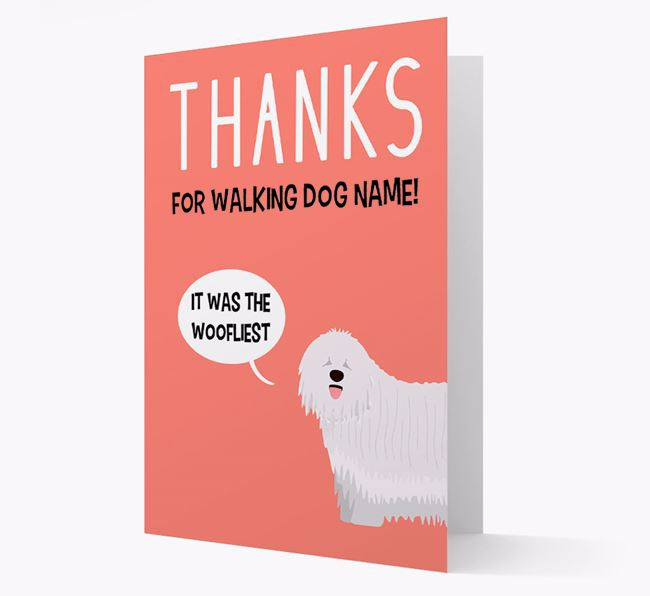 'Thanks for the Woofliest Walks' Card with Komondor Icon