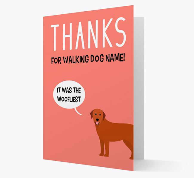 'Thanks for the Woofliest Walks' Card with Labrador Retriever Icon