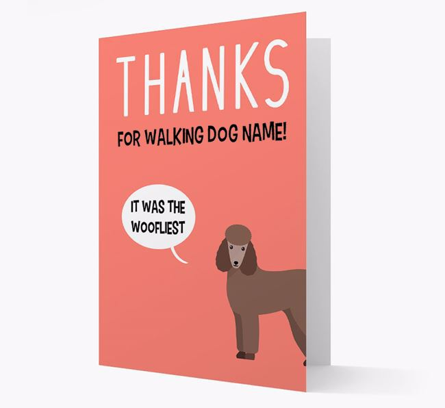 'Thanks for the Woofliest Walks' Card with Poodle Icon