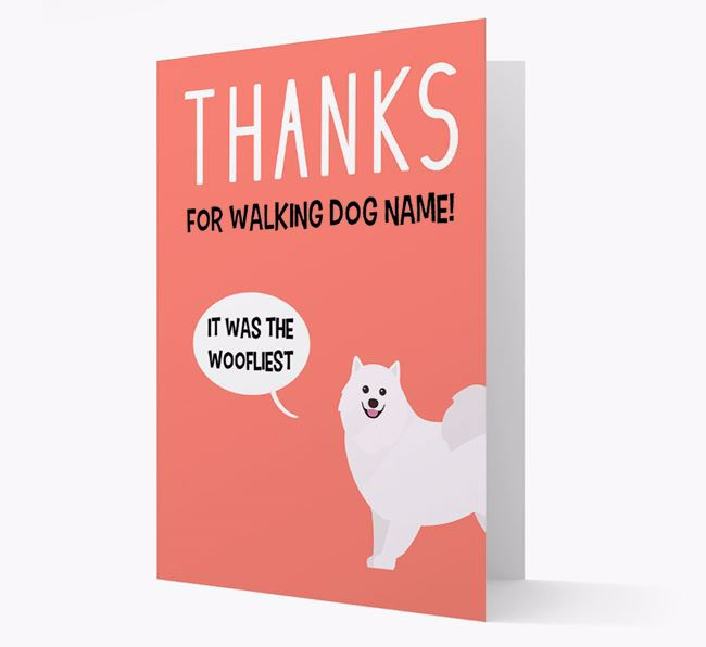 'Thanks for the Woofliest Walks' Card with Samoyed Icon