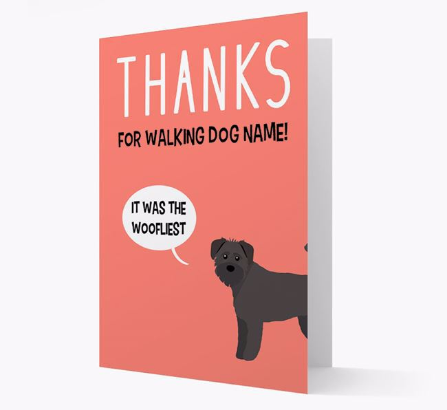 'Thanks for the Woofliest Walks' Card with Schnoodle Icon