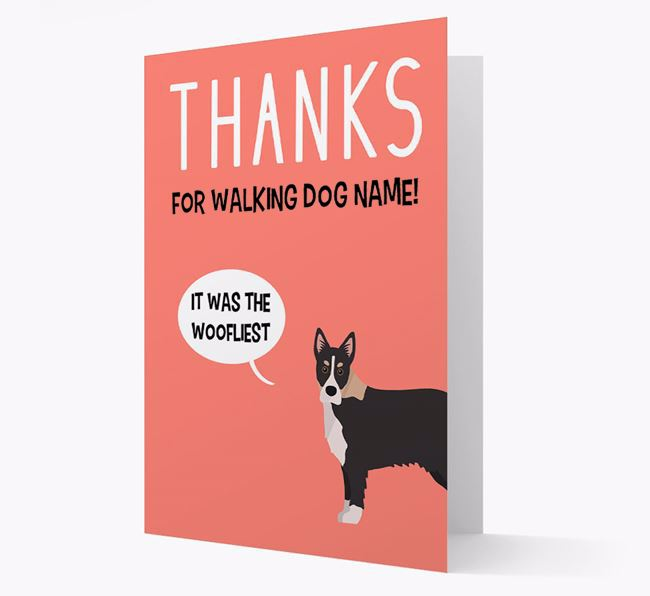 'Thanks for the Woofliest Walks' Card with Siberian Cocker Icon