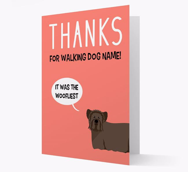 'Thanks for the Woofliest Walks' Card with Skye Terrier Icon