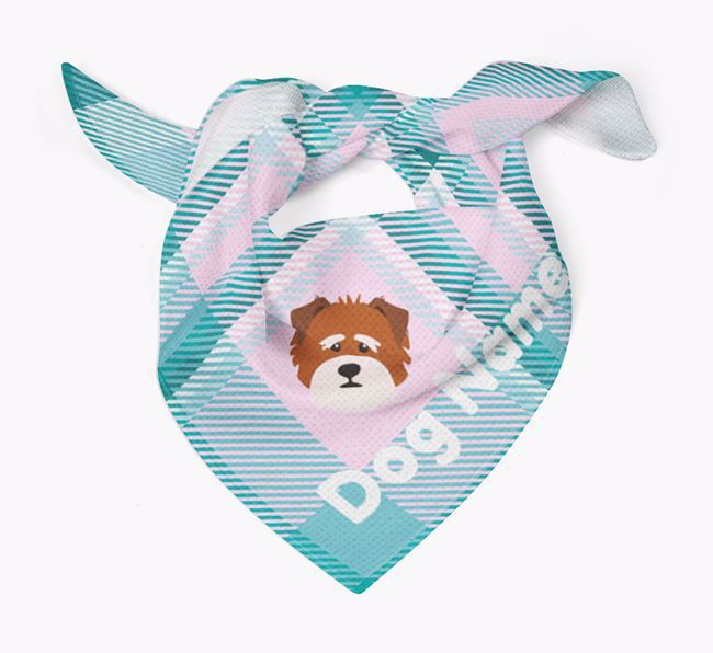 Personalised Tartan Dog Bandana for Your Dog
