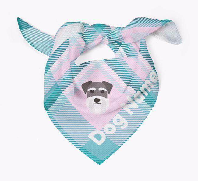 Personalized Tartan Dog Bandana for Your Dog
