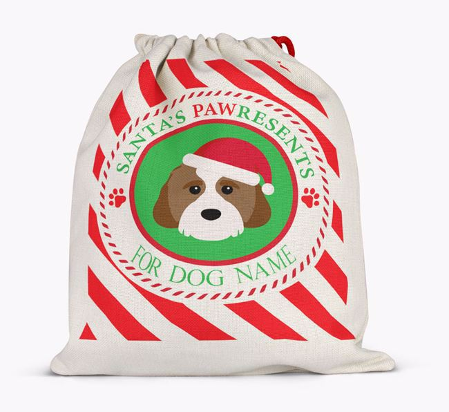 Santa Sack 'Pawresents' - Personalised for Your Cavachon