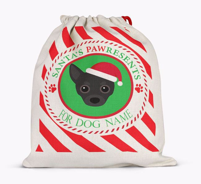 Santa Sack 'Pawresents' - Personalized for Your Chihuahua