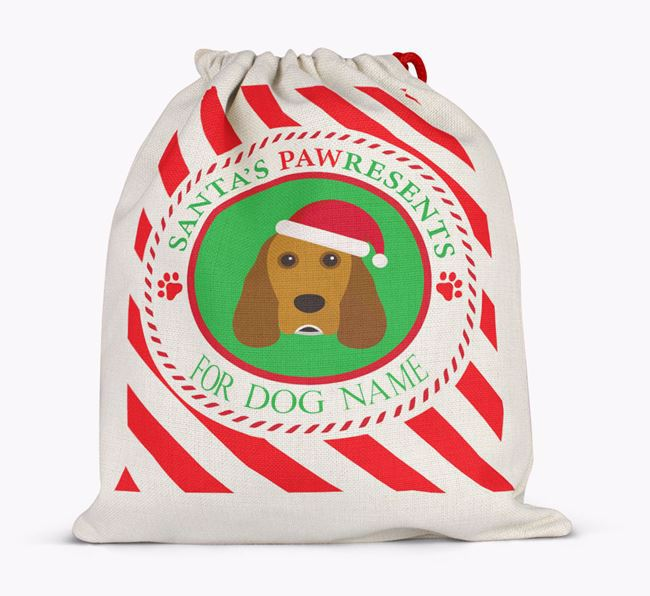 Santa Sack 'Pawresents' - Personalised for Your Cocker Spaniel