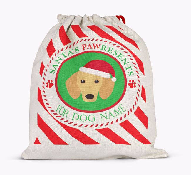 Santa Sack 'Pawresents' - Personalized for Your Dachshund